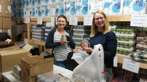 Helping out at foodbank for Holocaust survivors